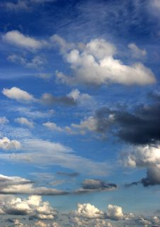 Clouds In A Bright Blue Sky Royalty Free Stock Photo