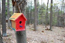 Birdhouse On Tree Royalty Free Stock Photography