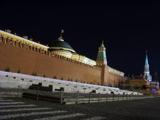Free The Red Square. A Night Kind Royalty Free Stock Images - 5393549