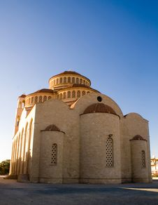 Free Greece Christian Church On Blue Sky Stock Image - 5394421