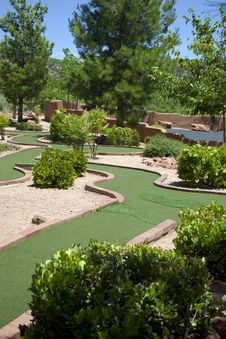 Outdoor Miniature Golf Game Stock Images