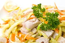 Free Fish Salad Stock Photo - 5395390