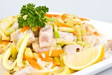 Free Fish Salad Stock Photography - 5395422