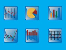 Free Graphs Icon Set Stock Photos - 5395443
