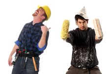 Free Construction Worker And House Painter Royalty Free Stock Photo - 5395555