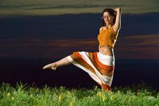 Free Sunset Dances Royalty Free Stock Image - 5395806