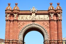 Free Triumphal Arch In Barcelona Stock Photos - 5395813