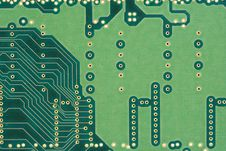 Back Of A Circuit Board Royalty Free Stock Images