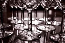 Wine Goblets Stock Images