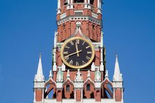 Free Clock On The Kremlin Tower Royalty Free Stock Photos - 5396038
