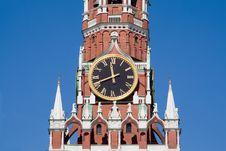 Clock On The Kremlin Tower Royalty Free Stock Photos