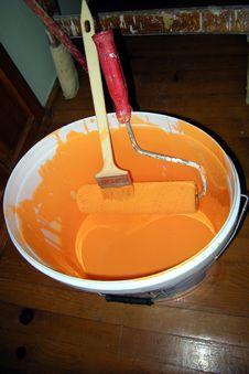 Free Orange Paint Royalty Free Stock Image - 5396046