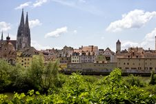 Free View Of A Medieval Town Royalty Free Stock Images - 5396159