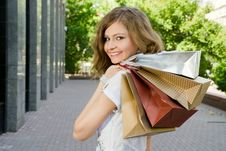 Free Happy Shopper Stock Image - 5396361