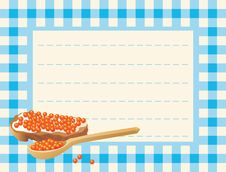 Red Caviar On Chequered Background Royalty Free Stock Image