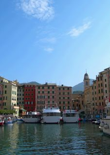 The City Of Portofino , Italy Royalty Free Stock Photos
