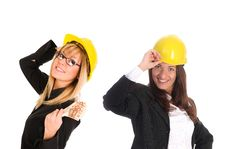 Free Two Businesswoman With With Earnings Stock Image - 5397311