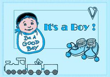 Free It S A Boy! Royalty Free Stock Images - 5398399