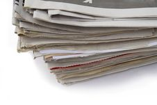Free Old Newspapers Royalty Free Stock Photography - 5398527