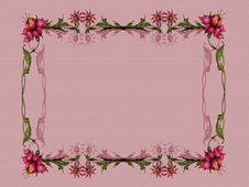 Wallpaper And Frame Stock Images
