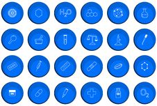 Chemistry Buttons Stock Photos