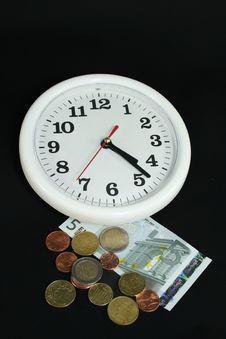 Free Clock With Money Stock Photos - 5398873