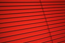 Red Venetian Blind Royalty Free Stock Photos