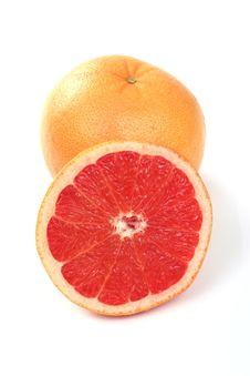 One And Half Orange Stock Image