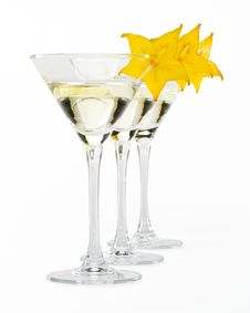 Free Martini Glass And Carambola Royalty Free Stock Photography - 5399217