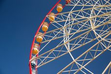 Free Atraktsion Ferris Wheel Against The Blue Sky Stock Photography - 53982452