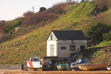 Free Old Boathouse & Boats Stock Photos - 540053