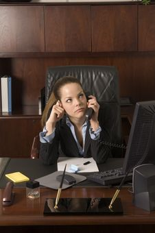 Free Pensive Business Call Royalty Free Stock Image - 540286