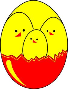 Free Three Easter Chickens Stock Photo - 540800