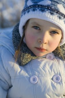 Free Girl On Winter Stock Photography - 541012