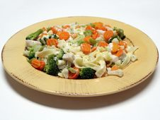 Free Fettucine With Vegetables Stock Photos - 541183