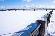 Free Bridge In Winter Stock Image - 542311