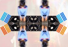 Free Funky Female Dj Pattern Stock Image - 544171