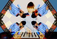 Free Funky Female Dj Pattern Stock Photography - 544202