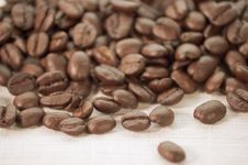 Free Coffee Beans On Burlap Cloth Royalty Free Stock Photo - 547615