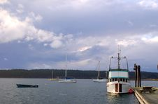 Boats On A Stormy Afternoon Royalty Free Stock Images