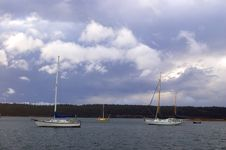 Free Boats On A Stormy Afternoon Royalty Free Stock Photo - 547955
