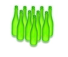 Free Ten Green Bottles Royalty Free Stock Photography - 548837
