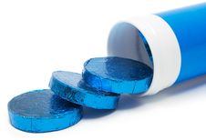 Free Tube Of Wrapped Pills (Side View) Stock Images - 549464