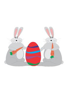 Free Easter Bunnies With Egg Stock Image - 549661