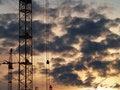 Free Cranes And Sky Stock Photo - 5400400