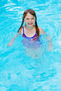 Free Girl Smiling Swimming Stock Image - 5402281
