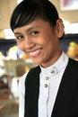 Free Waitress At Restaurant Royalty Free Stock Photos - 5403048