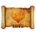 Free Love Heart Scroll Royalty Free Stock Photography - 5404457