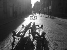 Free Benches In The Sun Royalty Free Stock Image - 5400066