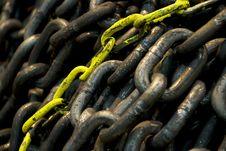 Free Yellow Chain Stock Image - 5400081
